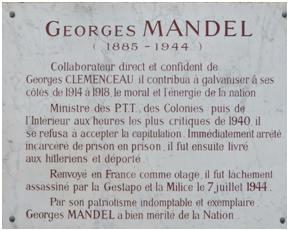 PLAQUE MANDEL